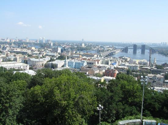 Sankt Andreas kyrka: view over the city