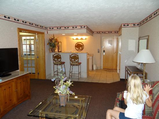 BEST WESTERN Ramkota Hotel: Room 1114 - View toward Kitchenette and Door
