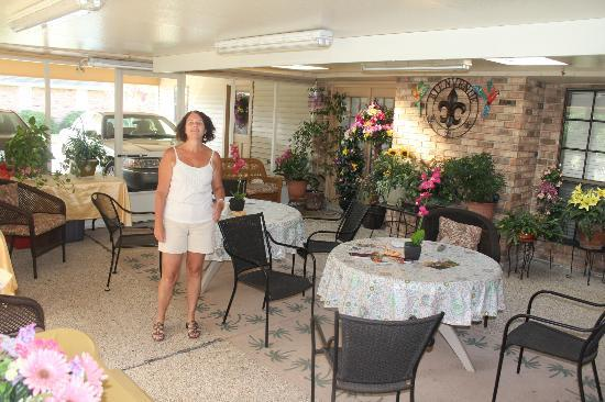 Bourg, LA: La véranda à la portee de la chambre