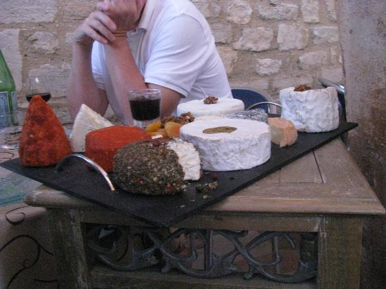 Le Crillon Hotel: the cheese plate