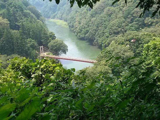 Hachioji, Japon : 相模湖方面、弁天橋コース。
