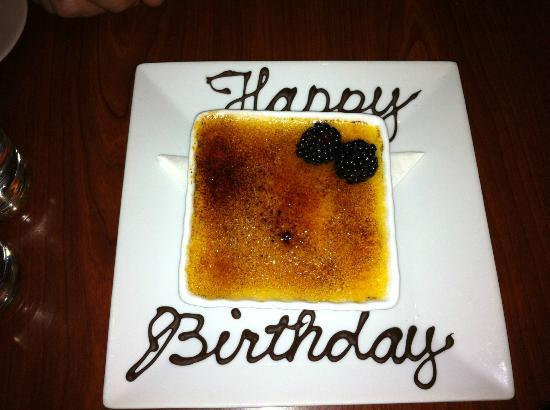 "Aida Bistro & Wine Bar: The White Chocolate Creme Brûlée (my ""birthday cake"")"