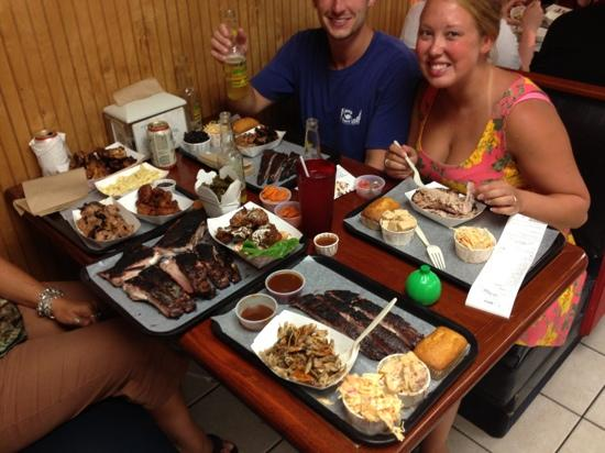 B.T.'s Smokehouse: we were hungry!