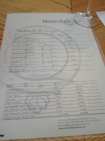 Domaine de Mourchon: the wines