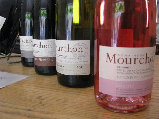 Domaine de Mourchon: some of the wines