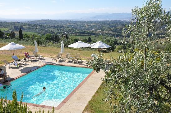 Tenuta Torre Rossa Farm & Apartments: Zwembad met uitzicht op Florence