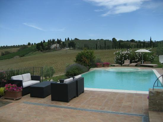 Borgo Tollena: Pool and its view