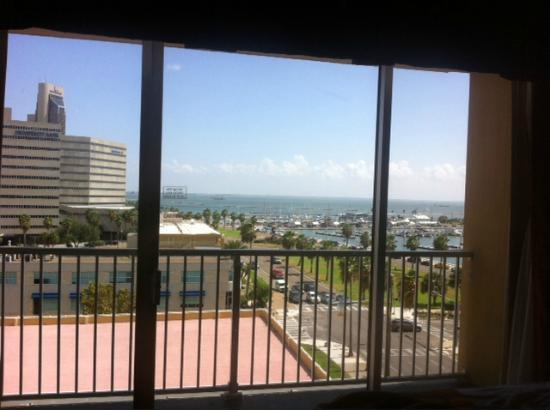 Best Western Corpus Christi: View of the ocean from our room