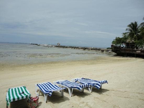 Pacific Cebu Resort: Not much water in the sea...