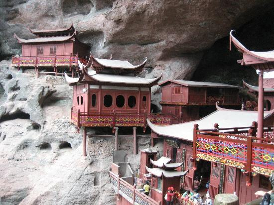Taining Danxia Landform: the hanging temple