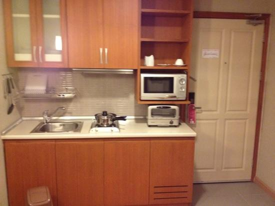 Pacific Park Hotel & Residence : kitchen