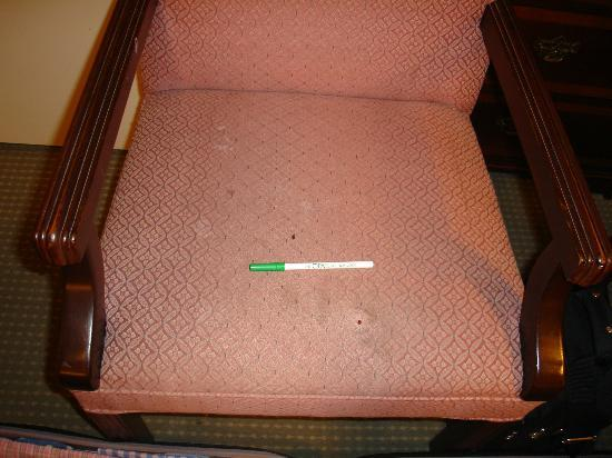 The Opal San Francisco: detalle asiento sucio