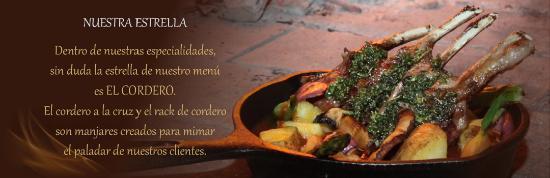 La Rustica Restaurante: Cordero al horno de leña