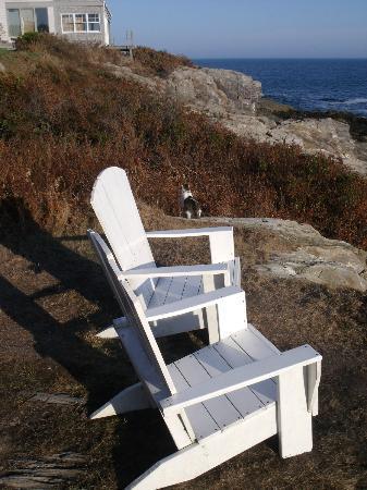 Driftwood Inn and Cottages: Sitting outside the Surf Side Inn