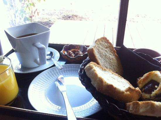 Arcanos, Casa de Montaña: Desayuno Casero