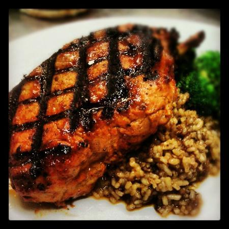 Tombo Grille: Grilled Pork Chop and Dirty Rice