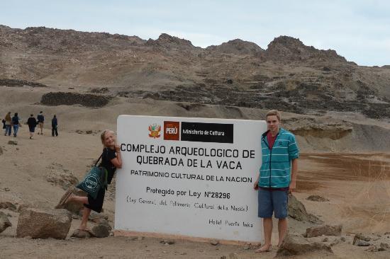 Hotel Puerto Inka: The adjacent Quebrada de la Vaca ruins