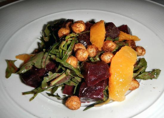 Il Palio: Marinated Beet Salad made vegan without chevre