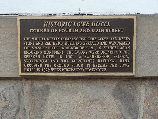 The Lowe Hotel: History of Lowe
