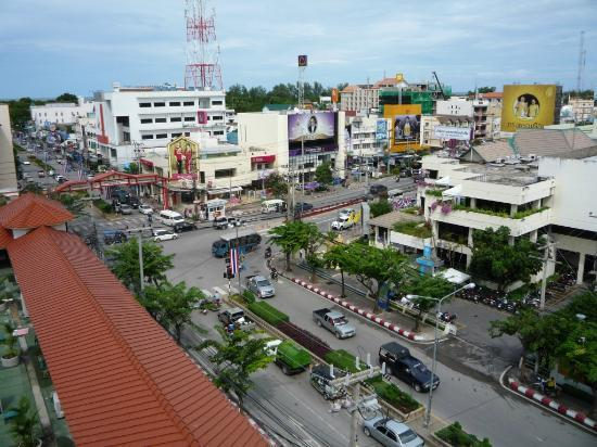 MANATHAI Hua Hin: View from our balcony on the 7th floor on downtown Hua Hin