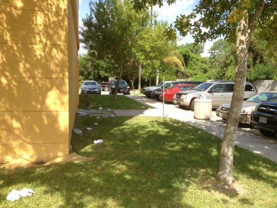 La Quinta Inn & Suites Brownsville North : trash around hotel