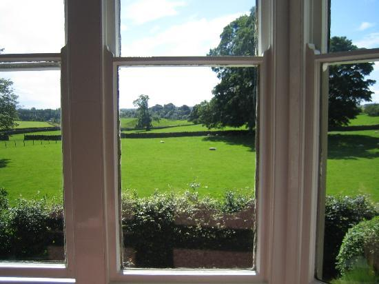 The Grange: View from room to the local countryside