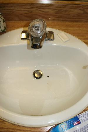 Howard Johnson Express Inn - Niagara Falls: Mold in the faucet and chipped/stained porcelain
