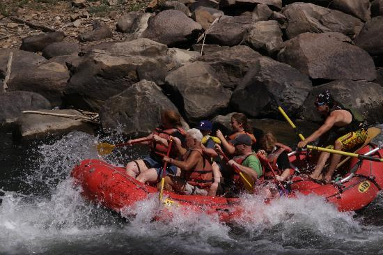 Durango Rafting Company: These were the biggest rapids there were in July.