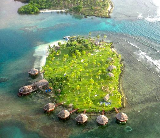 Yandup Island Lodge: Ariel view of Yandup