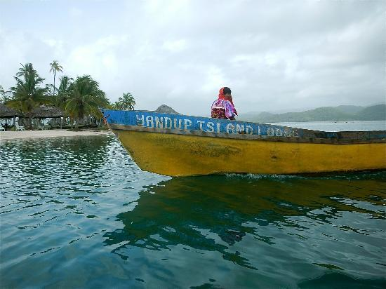 Yandup Island Lodge: Employee transportation to the morning shift