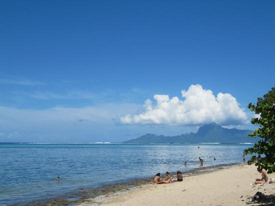 beach picture of pension de la plage tahiti punaauia. Black Bedroom Furniture Sets. Home Design Ideas