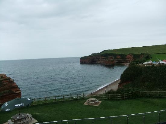 Ladram Bay Holiday Park: View from the Pebbles restaurant terrace