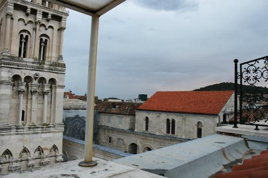 Diocletian's Rooms: View from the terrace during the day.