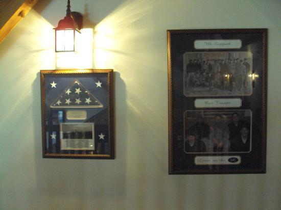 The Edge Hotel: Military Thank Plaques