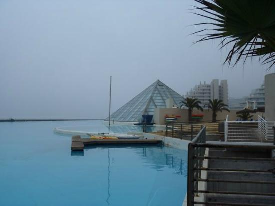 San Alfonso del Mar: Glass pyramid is indoor heated pool area
