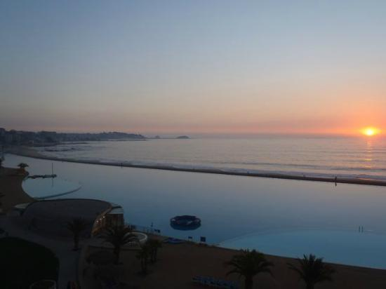 San Alfonso del Mar: Sunset view from our deck