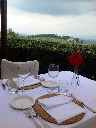 Ristorante Belvedere: Tavolo in terrazza