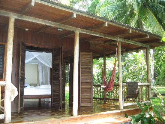 Bosque del Cabo Rainforest Lodge: Back of the cabin facing the Pacific