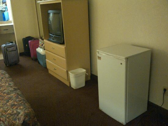 Country Hearth Inn - Kissimmee: Very cheap (and dirty) furniture/fridge.