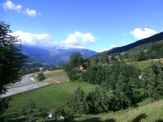 Hotel Chalet du Crey: vue de la terrasse
