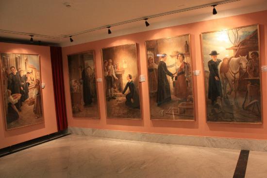 Materdomini, อิตาลี: The St. Gerardo museum - paintings depicting the miracles of the saint