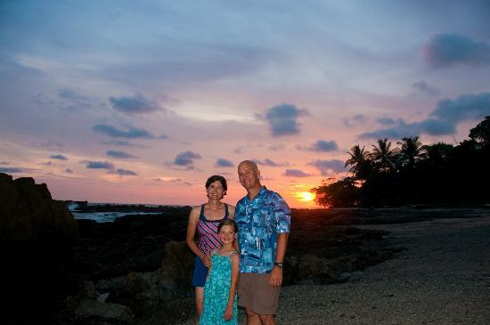 Las Caracolas: Us at sunset in front of Caracolas