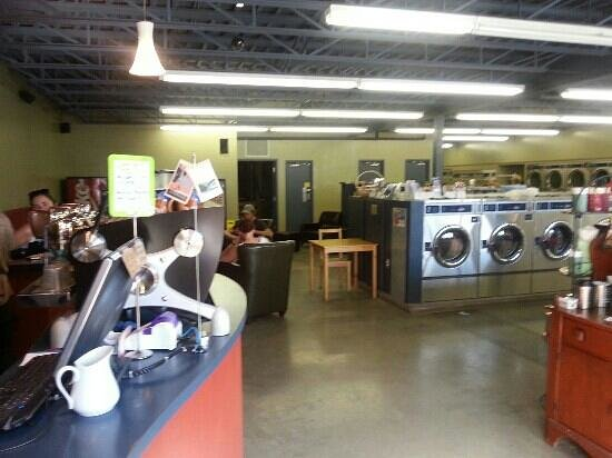 SnowDome Coffee Bar: Snowdome is part of a Laundromat!
