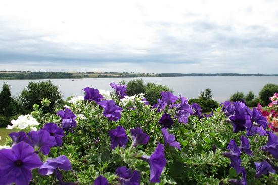 The Inn at St. Peters: The view of the bay from our front porch - beautiful flower boxes on our railing.