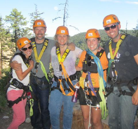 ZipZone Peachland: With our guide, Ryan