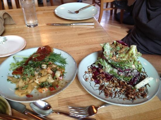 229 Parks Restaurant and Tavern: prawns on left, Radicchio on right