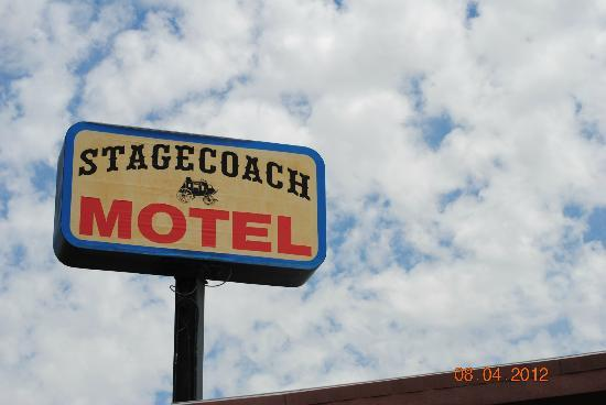 StageCoach Motel: Motel sign