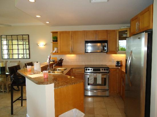 Villa Renaissance: Fully equipped kitchen with granite and stainless steel appliances