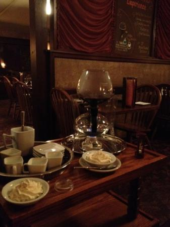 JJ's at the Copper Pot : table side coffee