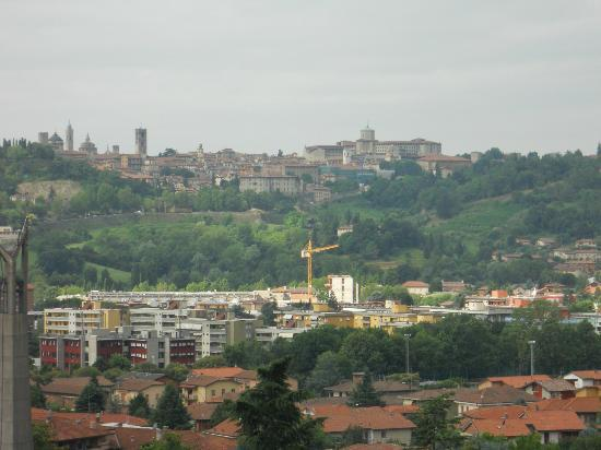 Ostello di Bergamo : view from the terrace where you can eat your breakfast